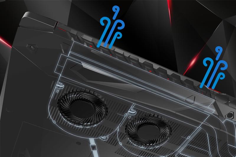 Tản nhiệt trên laptop gaming Acer Nitro 5 AN515 52 70AE