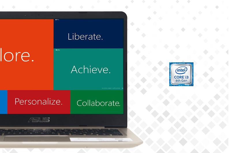 Máy tính laptop Asus A411UA (EB688T) xử lý tốt các tác vụ văn phòng