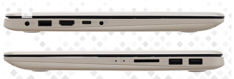 laptop Asus A411UA (EB688T) - máy ính văn phòng với Cổng kết nối đa dạng