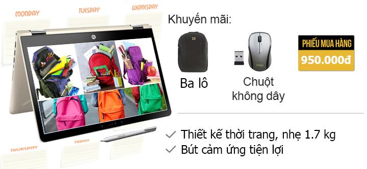HP Pavilion x360 ba080TU i3 7100U/4GB/1TB/Win10/(3MR79PA)