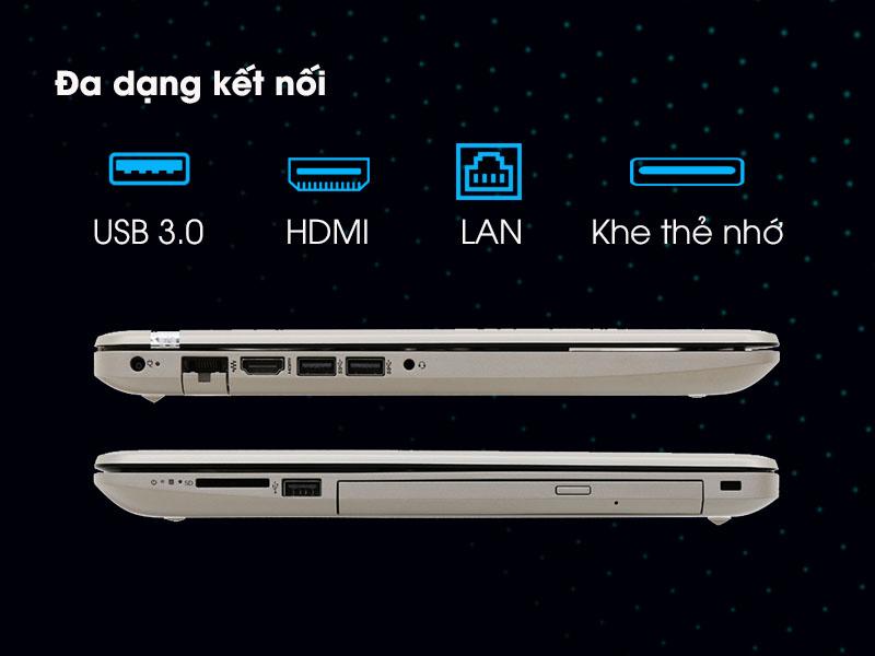 Đa dạng cổng kết nối trên HP 15 da0036TX i7 8550U