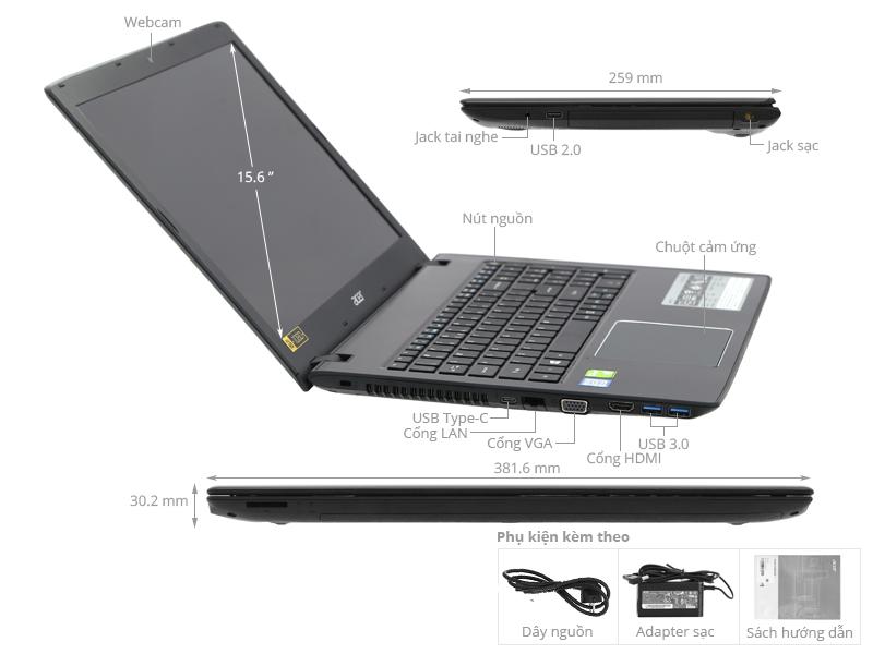 ACER E5-576G: Core i5 8250u/4G/1T/15in FullHD/VGA 2G MX150, còn BH 5th - 2