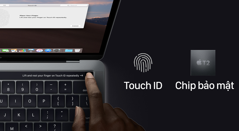 Toucj ID trên Apple Macbook Pro 2018 13 inch Touchbar MR9Q2SA