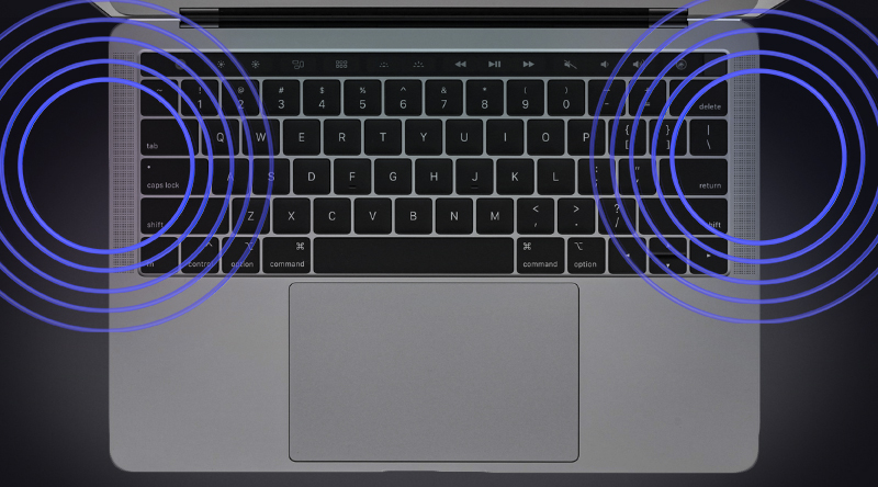 Hệ thống loa trên Apple Macbook Pro 2018 13 inch Touchbar MR9Q2SA