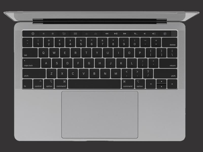 Bàn nền phím trên Apple Macbook Pro Touch MR9Q2SA