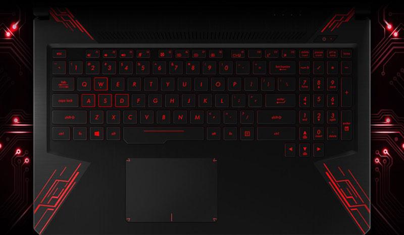 Bàn phím trên laptop gaming Asus FX504GD