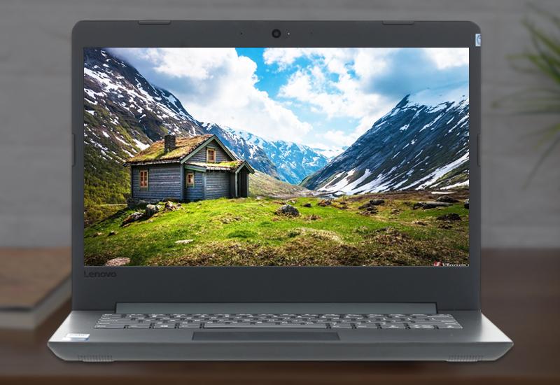 Màn hình tươi sáng trên máy tính văn phòng Lenovo IdeaPad 130 14IKB (81H60017VN)