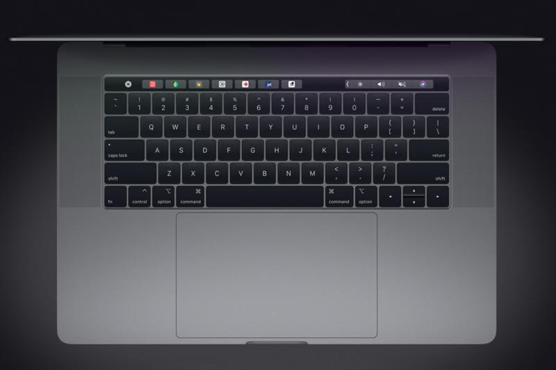 Bàn phím trên macbook pro 2018