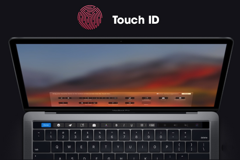 Touch Id trên macbook pro 2018