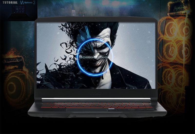 Âm thanh nhận biết chính xác đối thủ trên laptop gaming MSI GF63 8RD i7 8750H