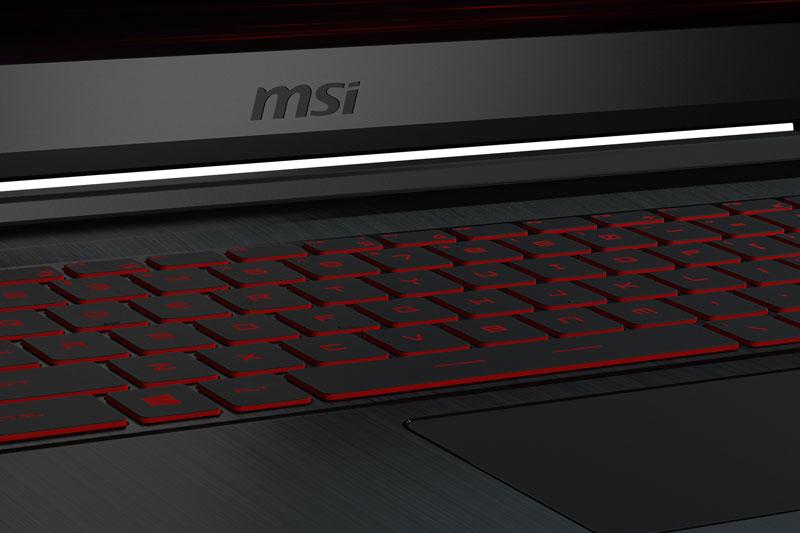 Bàn phím có đèn nền trên laptop gaming MSI GF63 8RD