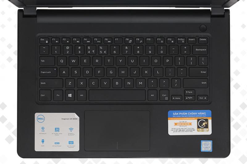 Laptop Dell Inspiron 3476 i3 8130U - Bàn phím to, rõ | Thegioididong