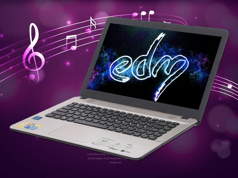 Âm thanh to, rõ trên Laptop Asus X441MA