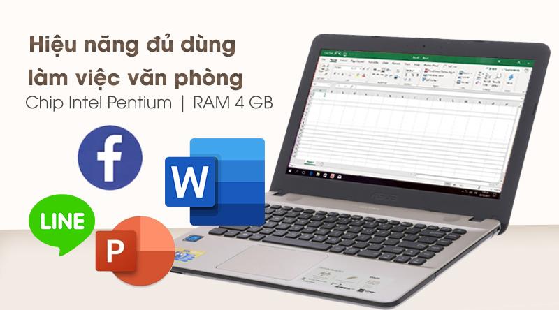 Laptop Asus Vivobook X441MA hiệu năng đủ dùng