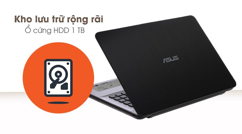 Laptop Asus Vivobook X441MA có không gian lưu trữ lớn