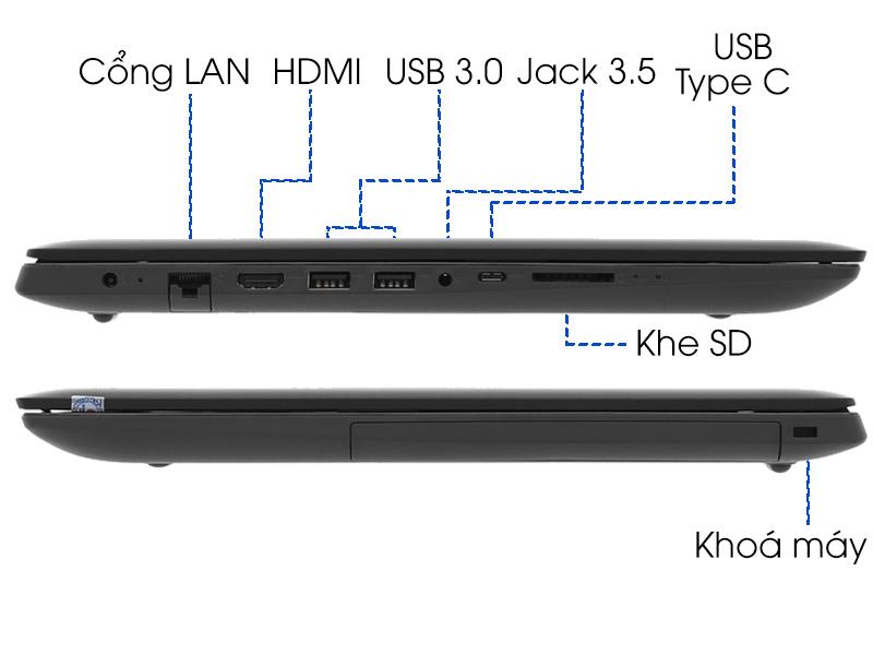 Cổng kết nối trên Ideapad 330 15IKBR i3 7020U