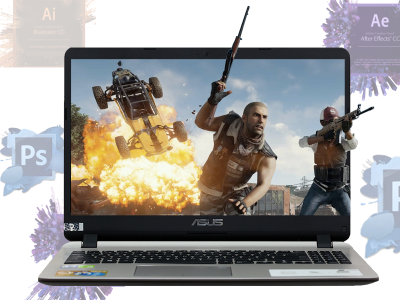 Cấu hình chơi game cơ bản trên máy tính xách tay Asus core i5 X507UF 8250U