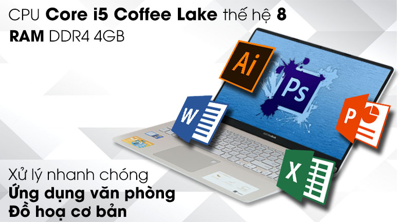 Laptop Asus Vivobook S15 S530UA i5 8250U (BQ290T)
