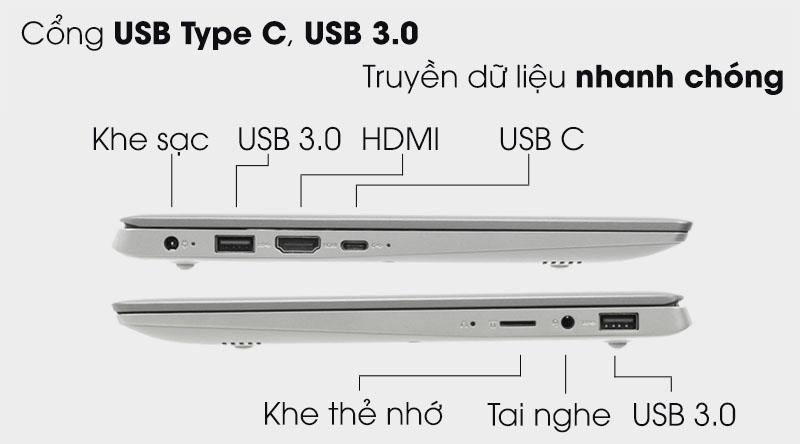 Đa dạng cổng kết nối trên Laptop Lenovo Ideapad S130 11IGM