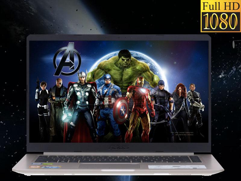 Màn hình tươi sáng sắc nét trên Laptop Asus core i5 VivoBook S510UN