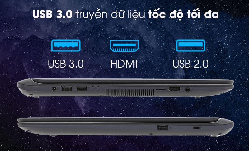 Đạ dạng cổng kết nối trên laptop Asus X507UA i3 7020U