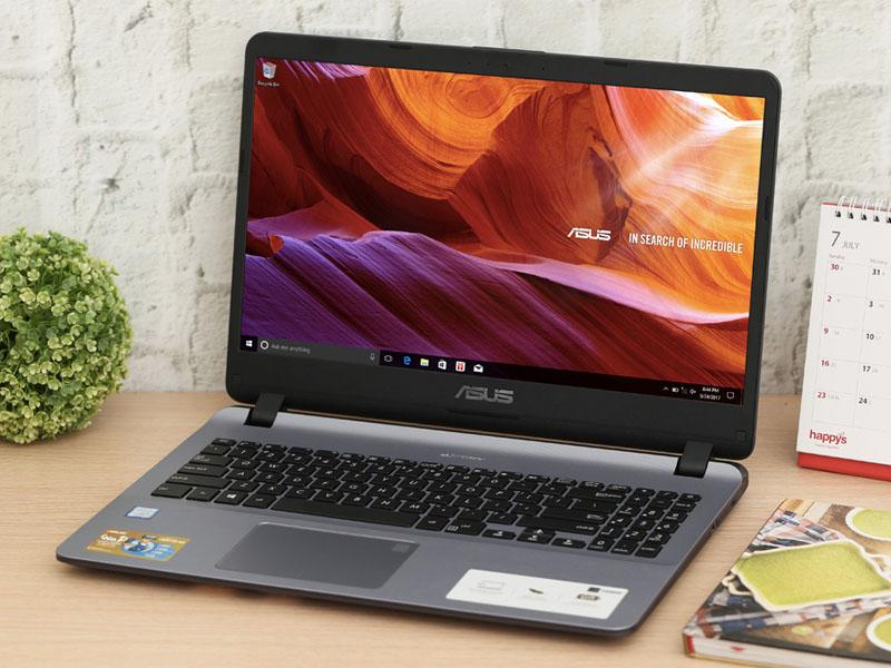 Thiết kế đơn giản trên máy tính văn phòng Asus X507UA i3 7020U