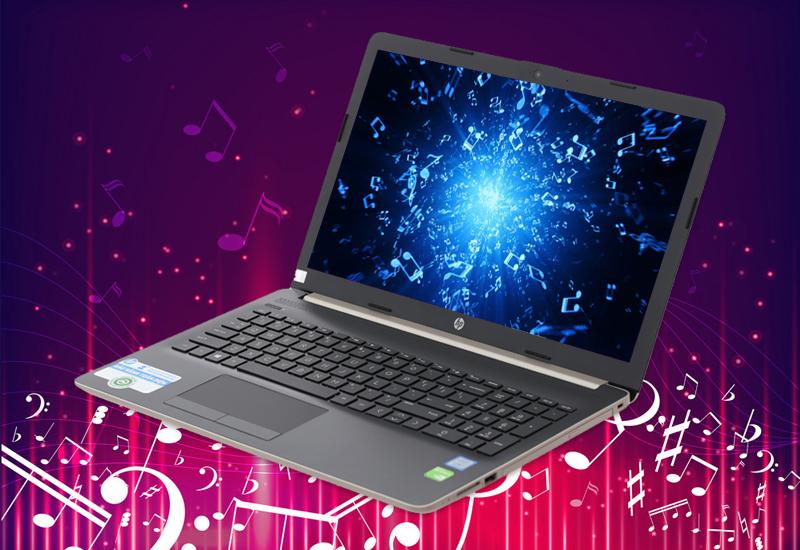 Âm thanh trong trẻo trên laptop HP 15 da0443TX i3 (5SL06PA)