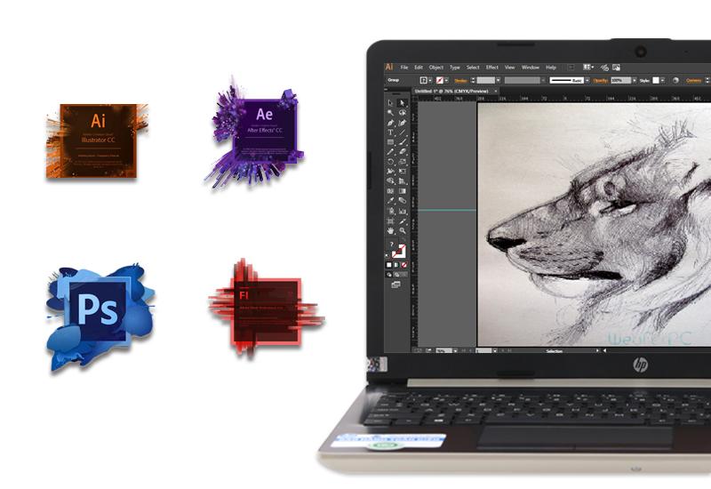 Hiệu năng ổn định trên laptop HP 15 da0443TX i3 (5SL06PA)