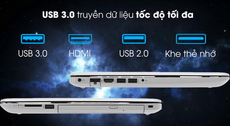 Cổng kết nối trên Laptop HP 15 da0443TX (5SL06PA)