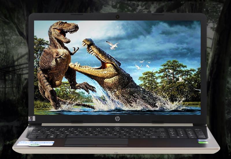 Màn hình tươi sáng, sắc nét trên Thiết kế hài hoà trên laptop văn phòng HP 15 da0443TX i3 (5SL06PA)