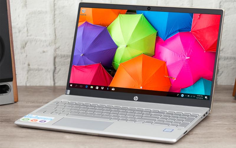 Thiết kết hài hoà trên laptop văn phòng HP Pavilion 15 cs1009TU i5 (5JL43PA)