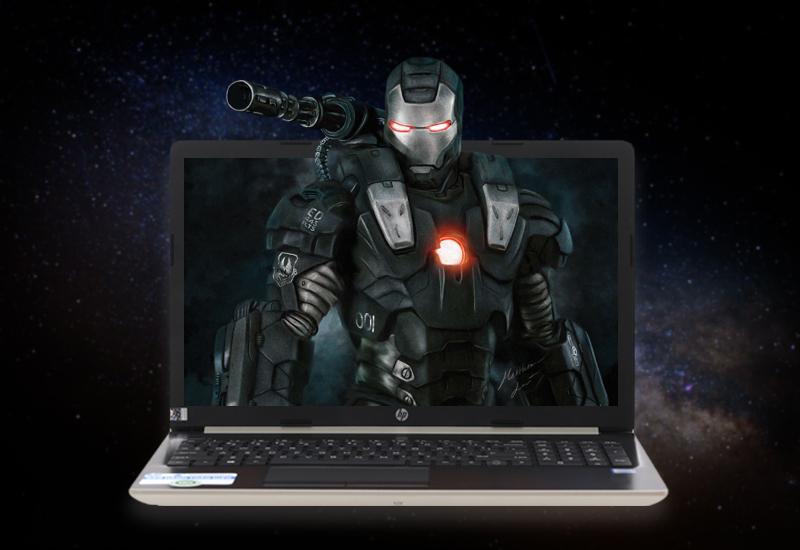 Màn hình sắc nét trên Laptop văn phòng HP 15 da1023TU (5NK81PA)