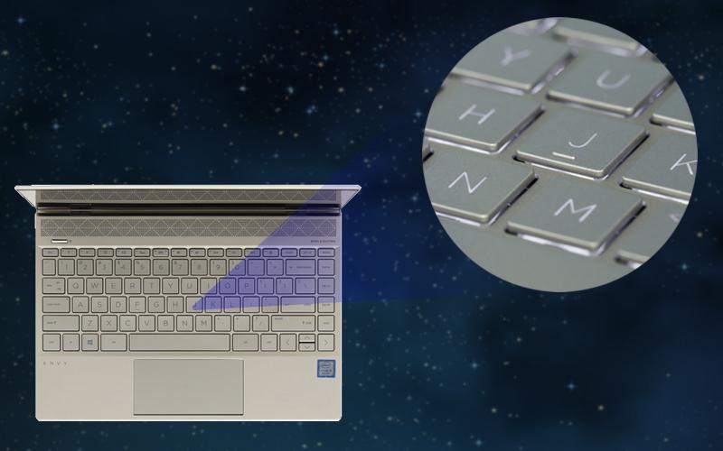 Đèn bàn phím tiện lợi trên laptop doanh nhân HP Envy 13 ah1011TU (5HZ28PA)