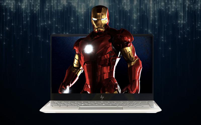 Màn hình tươi sáng trên laptop đồ hoạ kĩ thuật HP Envy 13 ah1011TU (5HZ28PA)