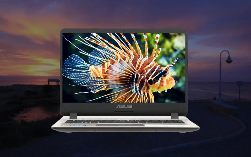 Màn hình tươi sáng trên laptop văn phòng Asus core i5 X407UA (BV485T)
