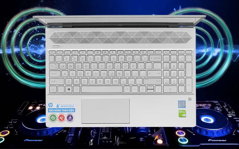 Âm thanh sống động trên laptop đồ hoạ kĩ thuật HP Pavilion 15 cs1044TX (95JL26PA)