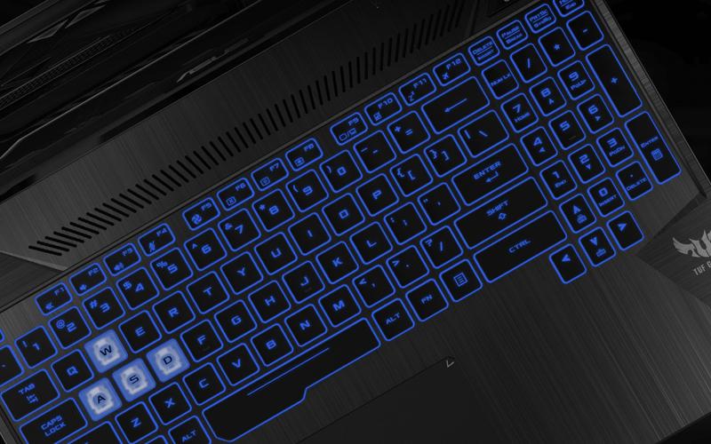 Đèn nền bàn phím trên laptop gaming Asus FX505GE (BQ037T)