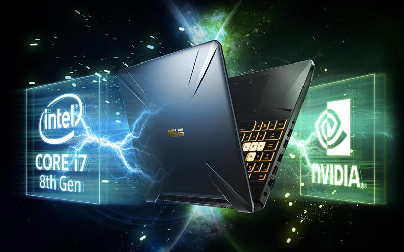Cấu hình mạnh mẽ trên laptop gaming Asus FX505GE (BQ037T)