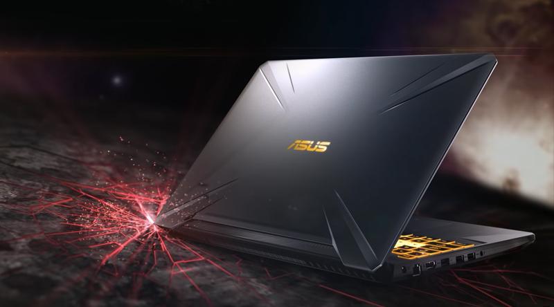 Thiết kế mạnh mẽ trên laptop gaming Asus FX505GE (BQ037T)
