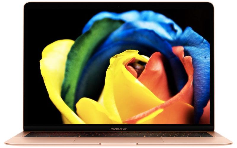 Màn hình retina sắc nét trên laptop nhỏ gọn Macbook Air MREE2SA/A (2018)