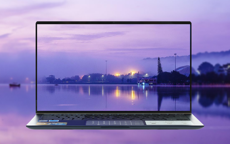 Màn hình sắc nét trên laptop nhỏ gọn Asus Zenbook UX433FA core i5 (A6061T)