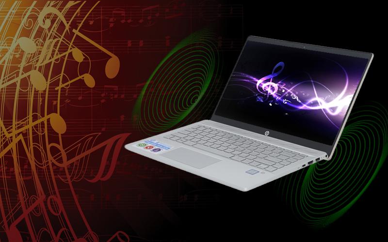 Âm thanh to, rõ trên laptop nhỏ gọn HP Pavilion 14 ce1011TU i3 (5JN17PA)