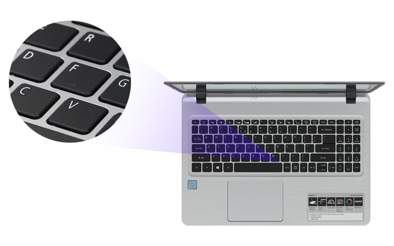 Bàn phím số tiện dụng trên Laptop văn phòng Acer Aspire A515 53 3153 i3 (NX.H6BSV.005)
