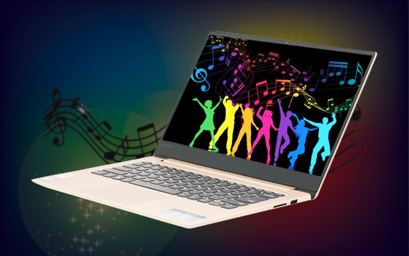 Âm thanh to, rõ trên Laptop văn phòng Lenovo Ideapad 530S 14IKB i7 (81EU00P5VN)