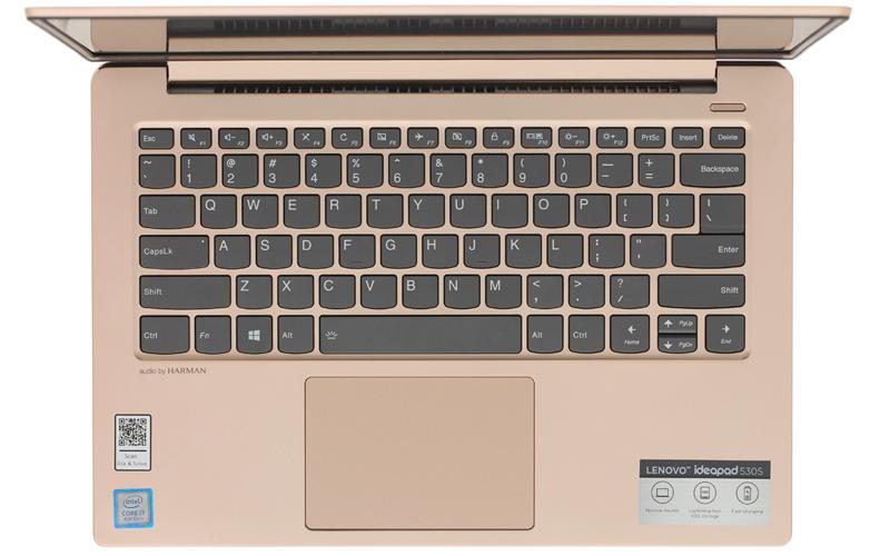 Bàn phím độ nảy cao trên Laptop văn phòng Lenovo Ideapad 530S 14IKB i7 (81EU00P5VN)