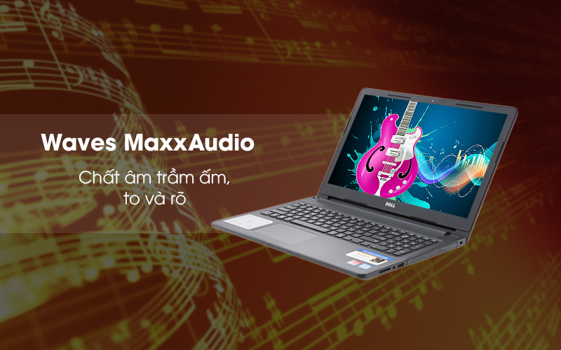 Âm thanh to, rõ trên laptop văn phòng Dell Inspiron 3576 i3 (C5I3133W)