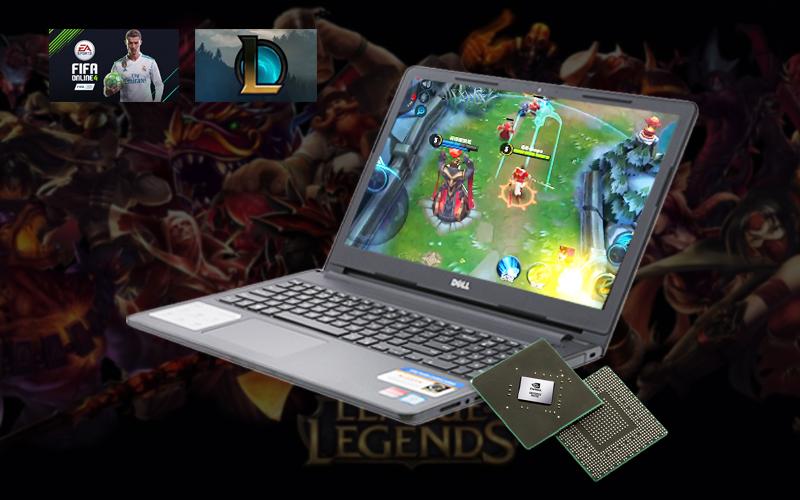 Card đồ hoạ rời chiếc game thoả thích trên laptop văn phòng Dell Inspiron 3576 i3 (C5I3133W)