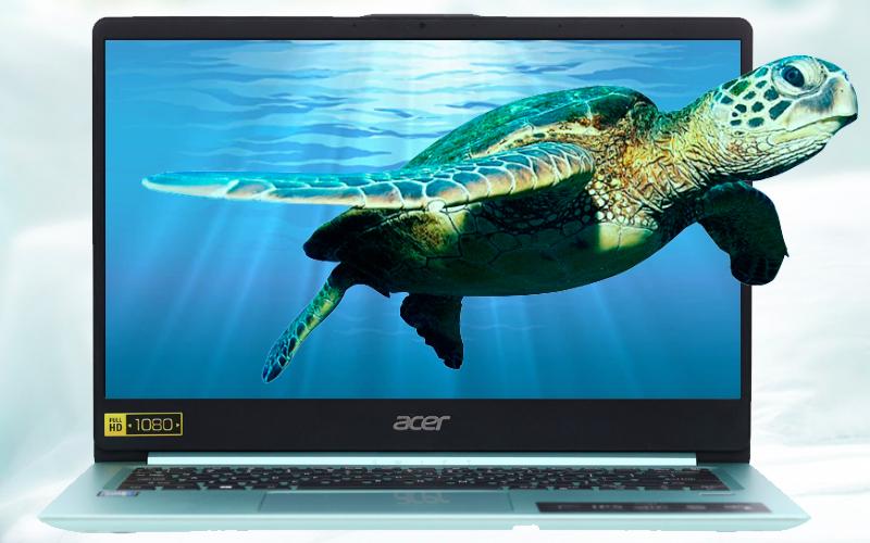 Màn hình FullHD tràn viền trên Laptop Acer Swift SF114 32
