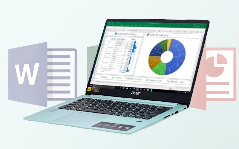Cấu hình cơ bản trên Laptop văn phòng Acer Swift SF114 32