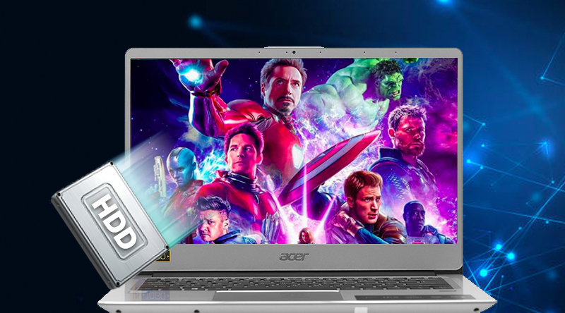 Acer Swift SF314 54 38J3 ổ cứng HDD lưu trữ thoải mái